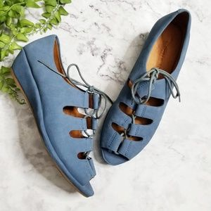 Gentle Souls | Blue Vally Lily Lace-Up Sandals